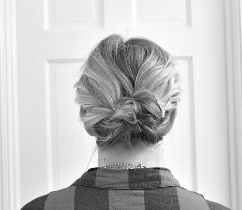 An Updo For The Office In Under 5 Minutes